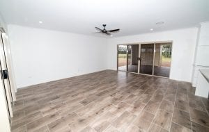 wooden tiled empty living room