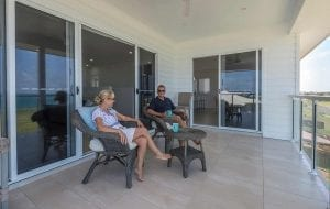 couple relaxing at the terrace Builders Bundaberg