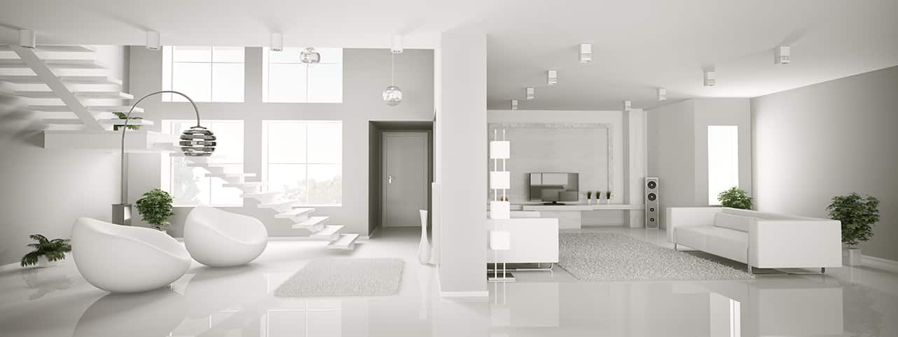 white elegant home