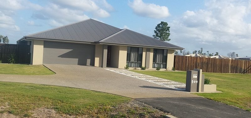 example of newly built home in bundaberg