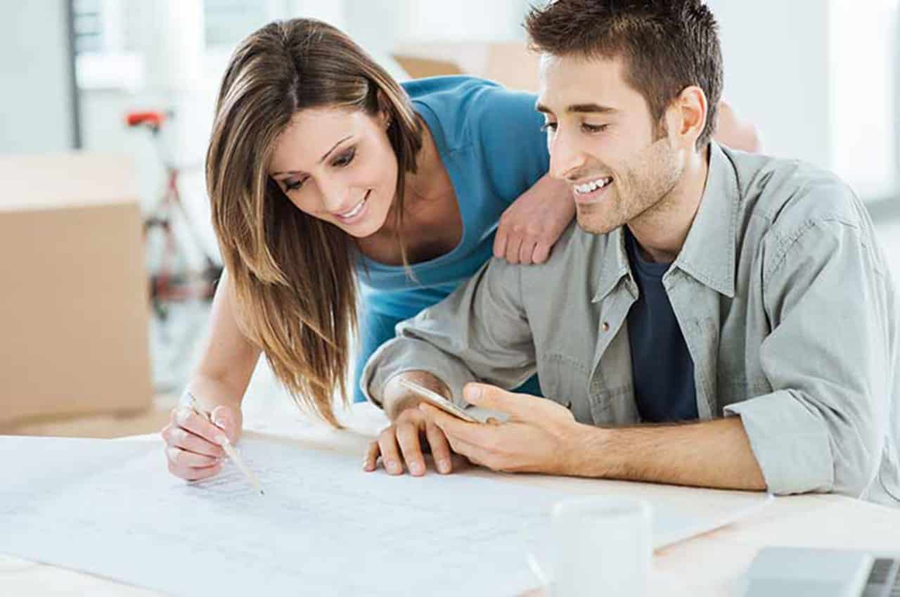 couple and house plans