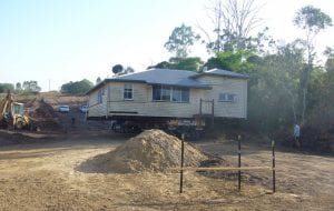 Walkers Road Renovation transporting house